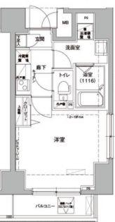 ロメック錦糸町[401号室]の間取り