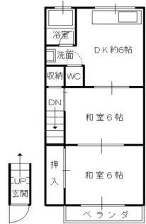 兵庫県神戸市長田区東尻池町5丁目の賃貸アパートの間取り
