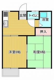 藤ハイツ 2階の賃貸【福岡県 / 大牟田市】