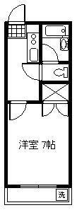 ポナール若松[102号室]の間取り