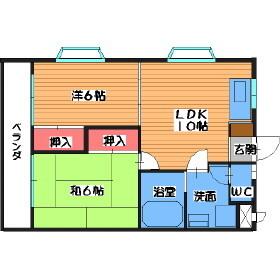 ニューライフマンション南ヶ丘[401号室]の間取り