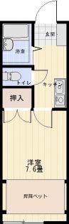 グレースメモリー秋田3B[102号室]の間取り