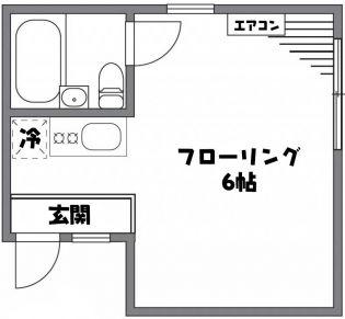 プチエタン[203号室]の間取り