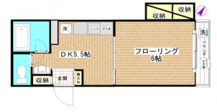 新中野マンション[205号室]の間取り