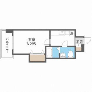 ラグゼ東三国Ⅱ[9階]の間取り