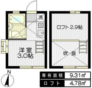プレシティー笹塚Ⅰ[101号室]の間取り