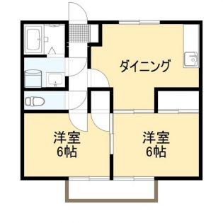ミユキプレイス太田宝町[2階]の間取り