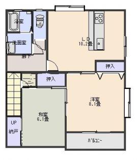 ロワジール[2階]の間取り