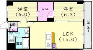 シティハイツ武庫之荘[4階]の間取り