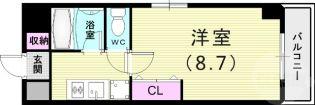 兵庫県神戸市東灘区御影中町4丁目の賃貸マンションの間取り