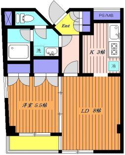 岩城ビル[3階]の間取り