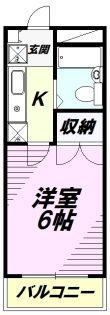 エスプリ片倉[C108号室]の間取り