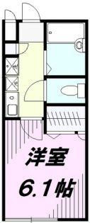 東京都八王子市みなみ野3丁目の賃貸アパートの間取り