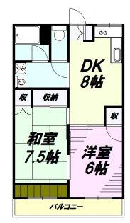 エコーマンション[5階]の間取り