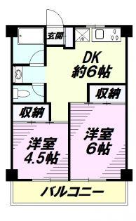 高尾力栄ビル[5階]の間取り