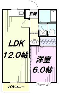 東京都昭島市武蔵野3丁目の賃貸マンションの間取り