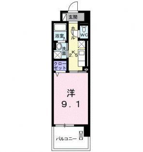東京都多摩市東寺方の賃貸マンションの間取り