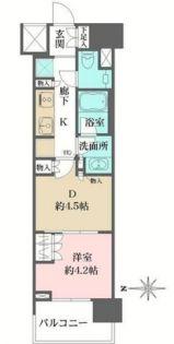 ザ・パークハウスアーバンス渋谷[11階]の間取り