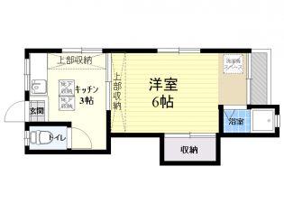 西山荘[105号室]の間取り