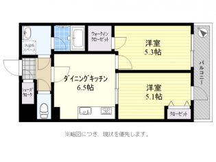 東京都世田谷区北烏山9丁目の賃貸マンションの間取り