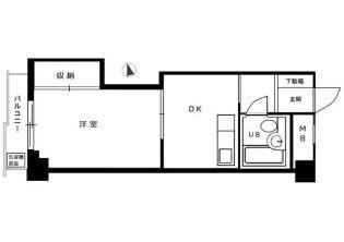 関東上石神井マンション[3階]の間取り
