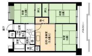 愛知県名古屋市熱田区花表町の賃貸マンションの間取り