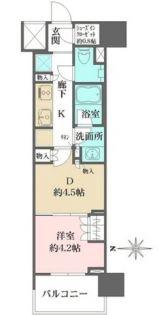 ザ・パークハウスアーバンス渋谷[2階]の間取り