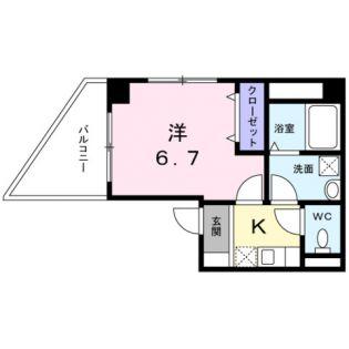 東京都台東区今戸1丁目の賃貸マンションの間取り