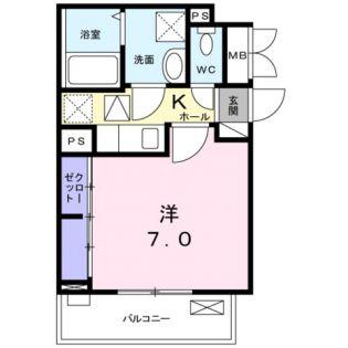 東京都練馬区谷原3丁目の賃貸アパートの間取り