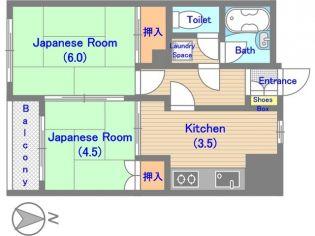 メゾンナカジマ[205号室]の間取り