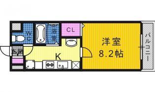 大阪府堺市堺区市之町西3丁の賃貸マンションの間取り