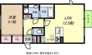 兵庫県神戸市須磨区潮見台町5丁目の賃貸アパートの間取り
