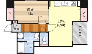 愛知県名古屋市中区古渡町の賃貸マンションの間取り