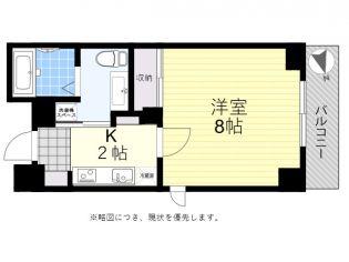 東京都調布市若葉町2丁目の賃貸マンションの間取り