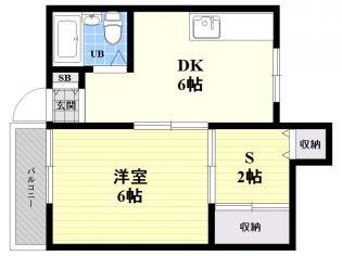 東京都中野区白鷺2丁目の賃貸アパートの間取り