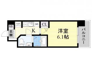 リッツ新大阪[2階]の間取り