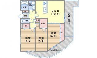 兵庫県神戸市須磨区白川台5丁目の賃貸マンションの間取り