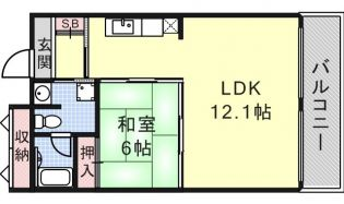 愛知県名古屋市南区天白町4丁目の賃貸マンションの間取り