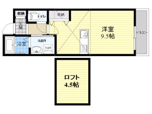 G−HOUSE[302号室]の間取り