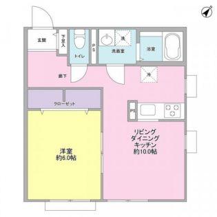 東京都調布市仙川町1丁目の賃貸アパートの間取り