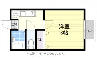 モンシャトー富士[2階]の間取り