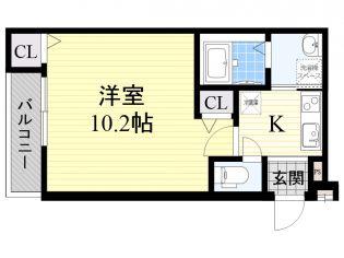 大阪府堺市堺区東雲西町1丁の賃貸アパートの間取り