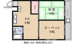 三澤ハイツ[3階]の間取り