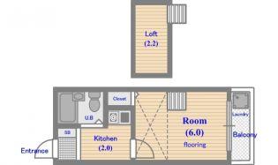 クレール桜堤[2階]の間取り
