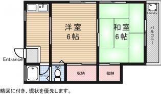 ハイツワタナベ[1階]の間取り