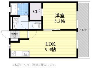 ハイツHATSU[2階]の間取り