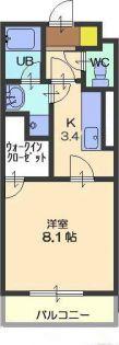 愛知県春日井市林島町3丁目の賃貸マンションの間取り