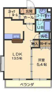 愛知県春日井市稲口町4丁目の賃貸マンションの間取り