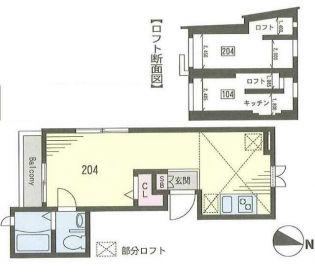 パルティール駒沢[2階]の間取り