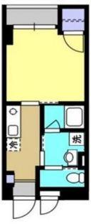 東京都世田谷区弦巻3丁目の賃貸マンションの間取り